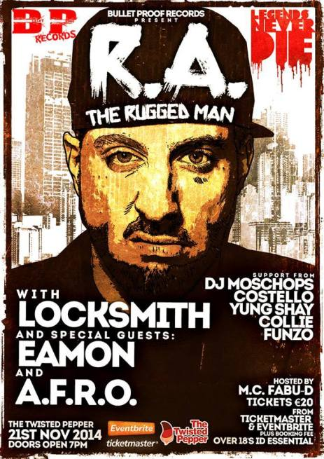R.A. The Rugged Man Gig Poster